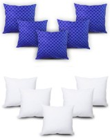 StyBuzz Solid Decorative Cushion Pack of 10(Blue)