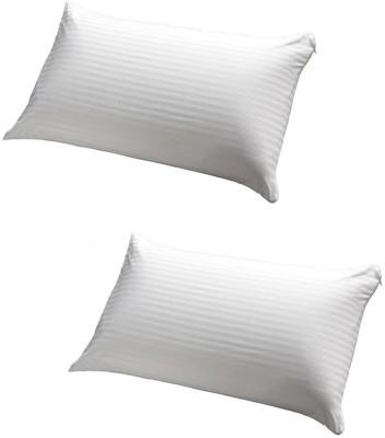 GoldGiftIdeas Stripe Bed/Sleeping Pillow(Pack of 2, White)