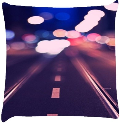 Snoogg Printed Design Throw Pillow(Pack of 1, Multicolor)