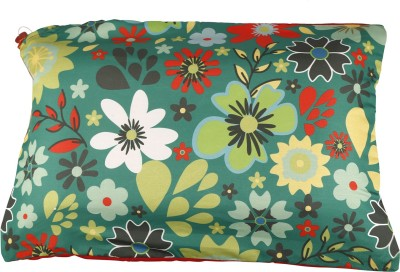 Nostaljia Floral Air Pillow(Pack of 1, Green)