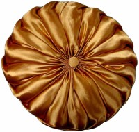 Luk Luck Plain Donut Pillow(Pack of 2, Gold)
