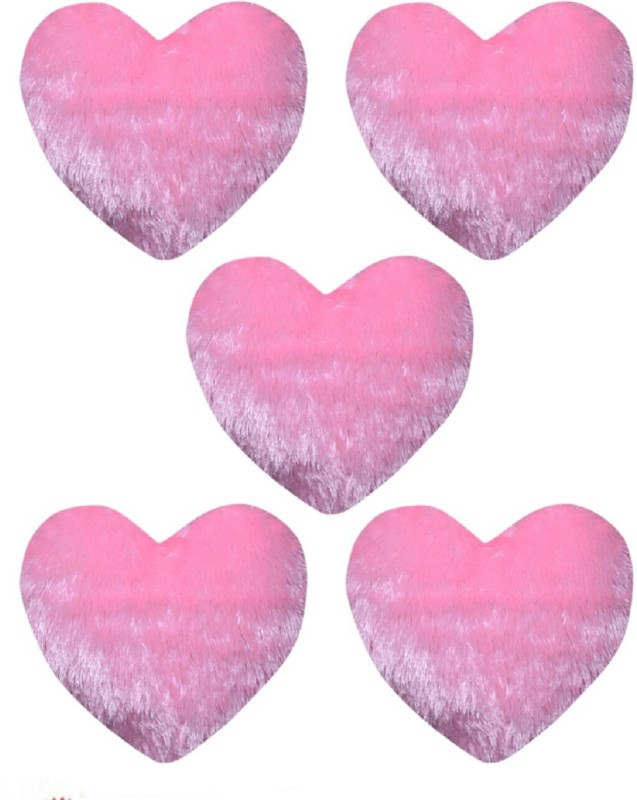 C.E Collection Plain Decorative Cushion Pack of 5(Pink)