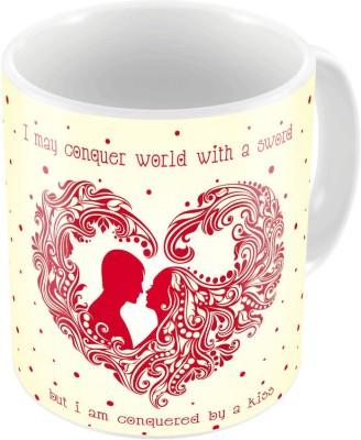 Indiangiftemporium Designer Romantic Printed Coffee s Pair 743 Ceramic Mug