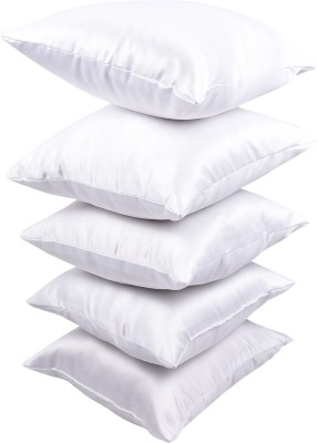 Nostaljia Plain Decorative Cushion(Pack of 5, White)