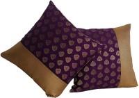 Furrball Self Design Decorative Cushion(Pack of 2, Purple, Gold)