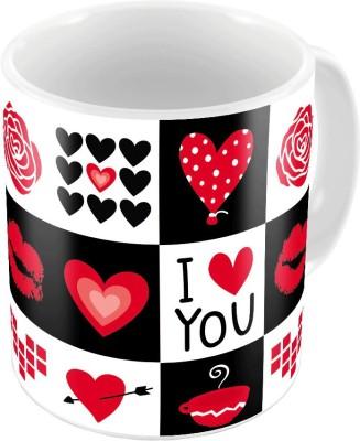 Little India Printed Coffee  n Filled Cushion Pair 347 Ceramic Mug
