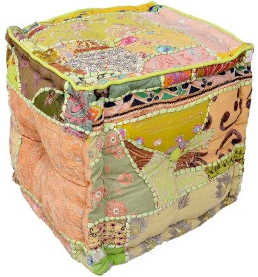 Goyal Textiles Floral Pouffe