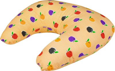 Zura Printed Feeding/Nursing Pillow(Pack of 1, Orange)