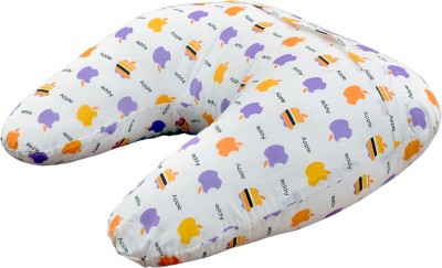 Orange and Orchid Abstract Feeding/Nursing Pillow