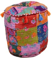 Goyal Textiles Floral Pouffe(Pack of 1, Multicolor)
