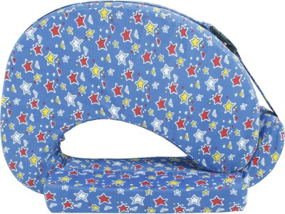 Momtobe Printed Feeding/Nursing Pillow(Pack of 1, Blue)