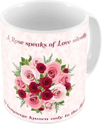 Home India Designer Romantic Print Pink Coffee  680 Ceramic Mug