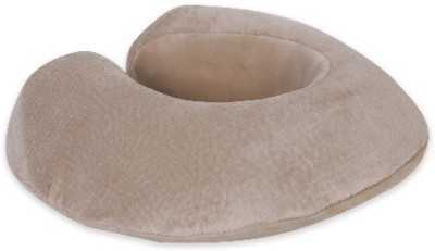 Starmac Beige U -Shaped Memory Foam Travel Pillow