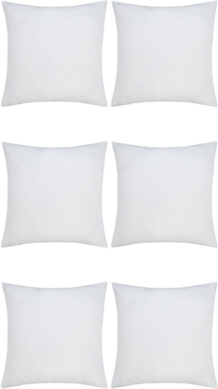 JDX Plain Back Cushion Pack of 6(White)