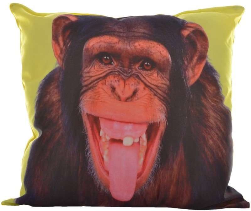 Twisha Printed Design Decorative Cushion Pack of 1(Multicolor, Yellow)