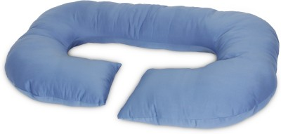 Momtobe Solid Bed/Sleeping Pillow(Pack of 1, Blue)