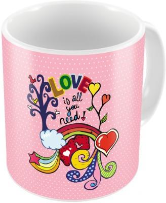 Indiangiftemporium Designer Romantic Pink Color Coffee s Pair 673 Ceramic Mug