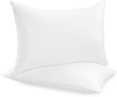 GoldGiftIdeas Plain Bed/Sleeping Pillow(Pack of 2, White)