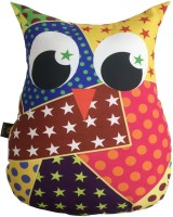 Lushomes Owl Decorative Cushion Pack of 1(Multicolor)
