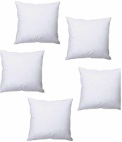 Homedecorhd Solid Back Cushion Pack of 5(White)