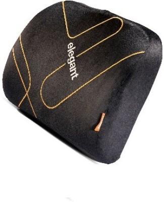 Elegant Memory Foam Lumber Support - Back Cushion (1 Pc) (Black) Back Cushion