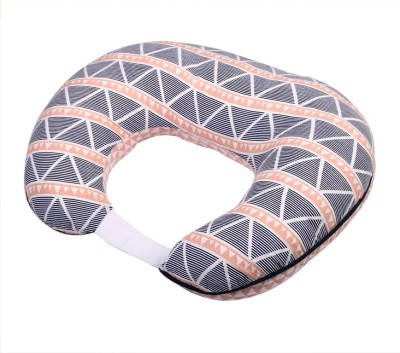 Bacati Triangles Feeding/Nursing Pillow(Coral ll Navy)