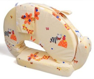 Baby Bucket Printed Feeding/Nursing Pillow(Off White)