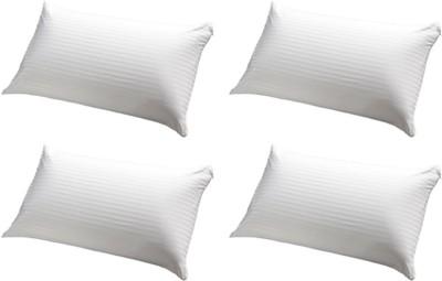 GoldGiftIdeas Stripe Bed/Sleeping Pillow(Pack of 4, White)
