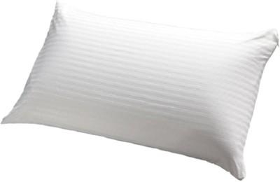 GoldGiftIdeas Stripe Bed/Sleeping Pillow(Pack of 1, White)
