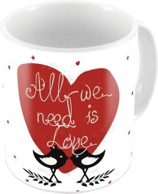 Home India Designer Romantic Printed Coffee s Pair 642 Ceramic Mug