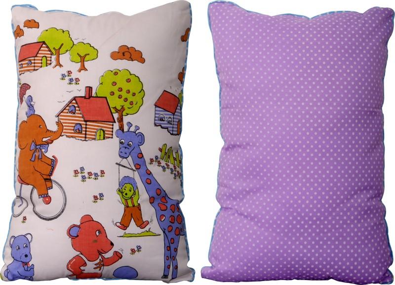Khyati PLAIN Decorative Cushion Pack of 1(White Front, Back Pink, Blue, Violet)