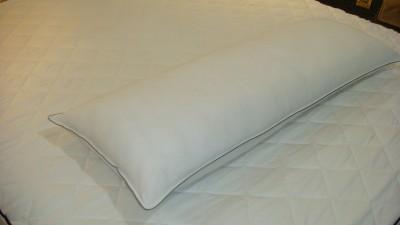 Snoozer Bedding Ltd. Plain White Body Pillow