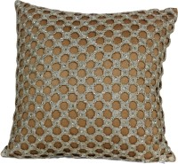 Furrball Embroidered Decorative Cushion(Pack of 2, Gold)