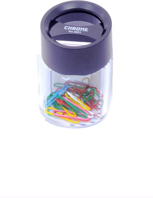 Chrome Round Small Pin Clip Dispenser(Black, 200 Pins)