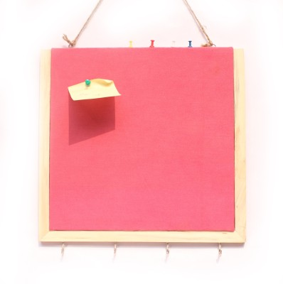 Ivei with Keyhook Pin Board Bulletin Board(Pink)