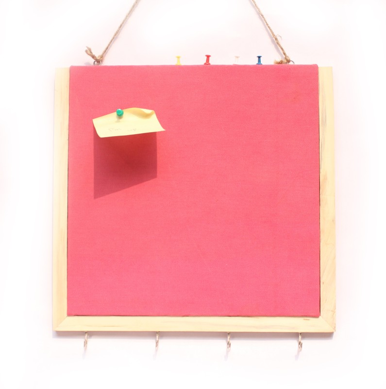 Ivei with Keyhook Pin Board Bulletin Board(Pink)