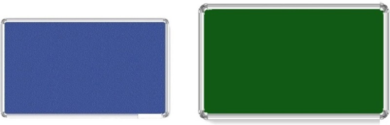 Bansal Paper Industries 1.5x2 Feet Light Weight Notice Pack of Two Cork Bulletin Board(Green, Blue)