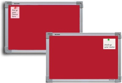 Jagdish Traders Concrete Board Bulletin Board(Maroon)