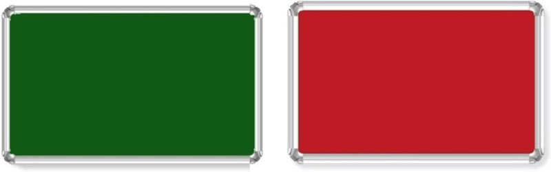 Bansal Paper Industries 1.5x2 Feet Light Weight Notice Pack of Two Cork Bulletin Board(Green, Red)