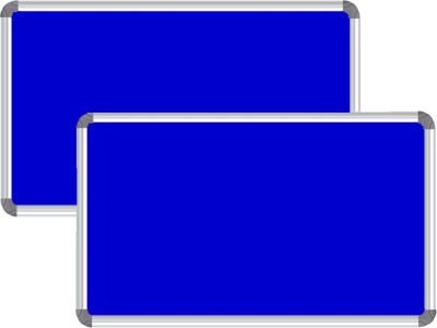 Nechams NB_FABRIC_32UF Fabric Bulletin Board(Blue)