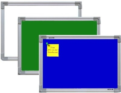 NECHAMS MG_WB_GB_NB_BLUE_151_TF WHITE , GREEN & NOTICE BOARD(BLUE) COMBO PACK Bulletin Board(WHITE , GREEN , BLUE)