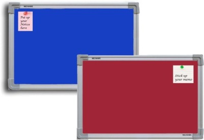 Jagdish Traders Concrete Board Bulletin Board(Maroon, Blue)