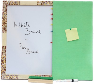 Ivei Chowk Art Enclosed Hobby Board Bulletin Board(Green)