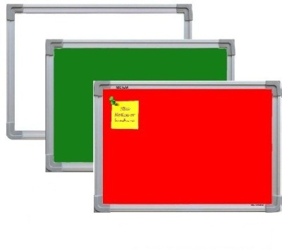 NECHAMS MG_WB_GB_NB_RED_21_TF WHITE , GREEN & NOTICE BOARD (RED) COMBO PACK Bulletin Board(WHITE , GREEN & RED)