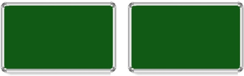 Bansal Paper Industries 1.5x2 Feet Light Weight Notice Pack of Two Cork Bulletin Board(Green)