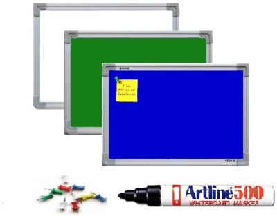 NECHAMS MG_WB_GB_NB_BLUE_152_TF WHITE, GREEN AND NOTICE BOARD (BLUE) PACK OF 3 Bulletin Board