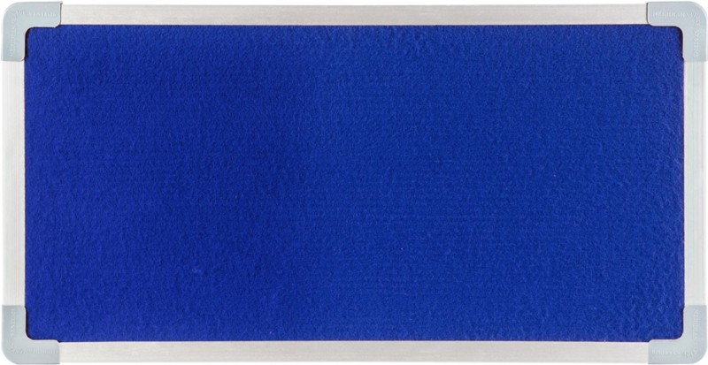 Meridian Office Systems Fabric Display Woolen Felt Bulletin Board(Royal Blue)