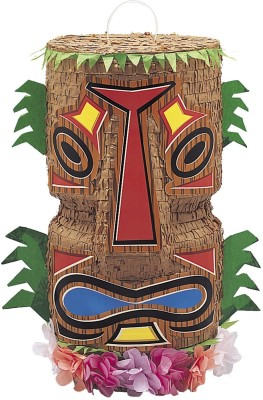 Unique Totem Tiki Pinata Pull String Pinata(Multicolor, Pack of 1)