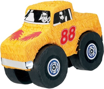 Unique Monster Truck Pinata, Pull String Pull String Pinata(Multicolor, Pack of 1)