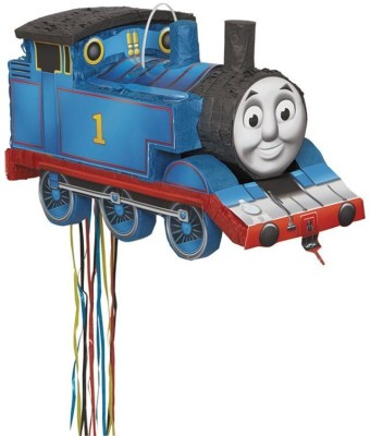 Unique Thomas the Tank Engine Pinata Pull String Pinata(Multicolor, Pack of 1)